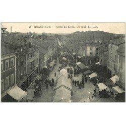 carte postale ancienne 01 MEXIMIEUX. Jour de Foire Route de Lyon
