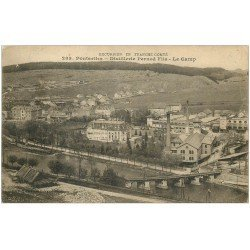 carte postale ancienne 25 PONTARLIER. Distillerie Pernod. Le Camp 1916