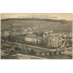 carte postale ancienne 25 PONTARLIER. Distillerie Pernod. Le Camp 1916