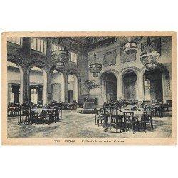 carte postale ancienne 03 VICHY. Casino Salle de Baccarat 1935
