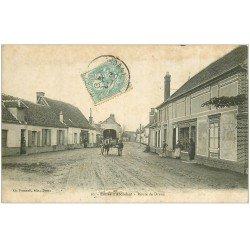 carte postale ancienne 28 ABONDANT. Attelage Route de Dreux 1906