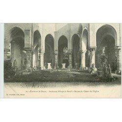 carte postale ancienne 28 ANCIENNE ABBAYE DU BREUIL 1909. Choeur de l'Eglise
