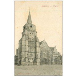 carte postale ancienne 28 ARROU. L'Eglise 1917