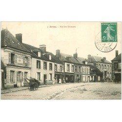 carte postale ancienne 28 ARROU. Rue des Diamants 1909 Café du Commerce