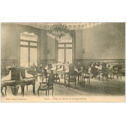 carte postale ancienne 03 VICHY. Casino Salon de correspondances vers 1900