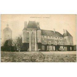carte postale ancienne 28 AUNEAU. La Château. Poterne et Tour 1937
