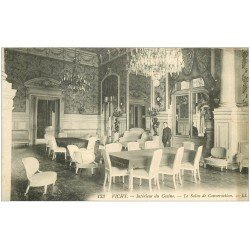 carte postale ancienne 03 VICHY. Casino Salon des conversations 1913