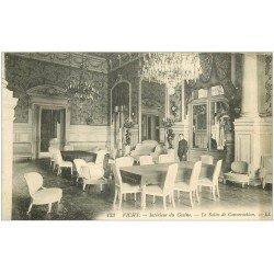 carte postale ancienne 03 VICHY. Casino Salon des conversations 1913