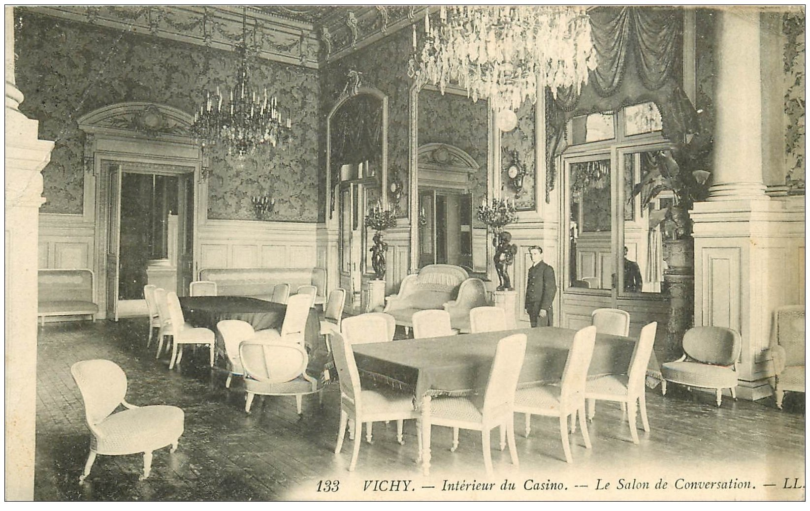 03 vichy casino salon des conversations 1913 for Salon carte postale