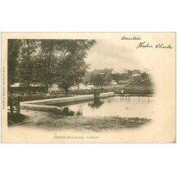 carte postale ancienne 28 AUNEAU. Le Canal 1903