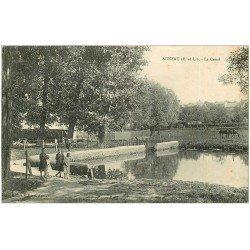 carte postale ancienne 28 AUNEAU. Le Canal 1924
