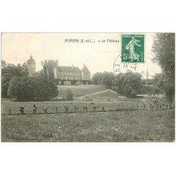 carte postale ancienne 28 AUNEAU. Le Château 1909. Enfants perchés sur les arbres