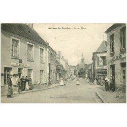 carte postale ancienne 28 AUTHON-DU-PERCHE. Rue du Mans. Epicerie Café Pinceloupvers 1910
