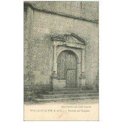 carte postale ancienne 28 BAILLEAU-LE-PIN. Portail de l'Eglise 1906