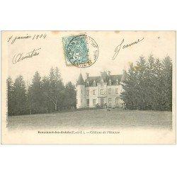 carte postale ancienne 28 BEAUMONT-LES-AUTELS. Château de l'Ozanne 1904