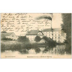 carte postale ancienne 28 BONNEVAL. Moulin de Vouvray 1905