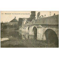 carte postale ancienne 28 BONNEVAL. Pont Boisville bien animé 1924