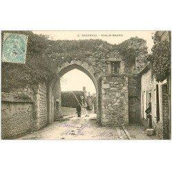 carte postale ancienne 28 BONNEVAL. Porte de Boiville 1905