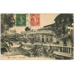 carte postale ancienne 03 VICHY. Casino. Les Marches 1917