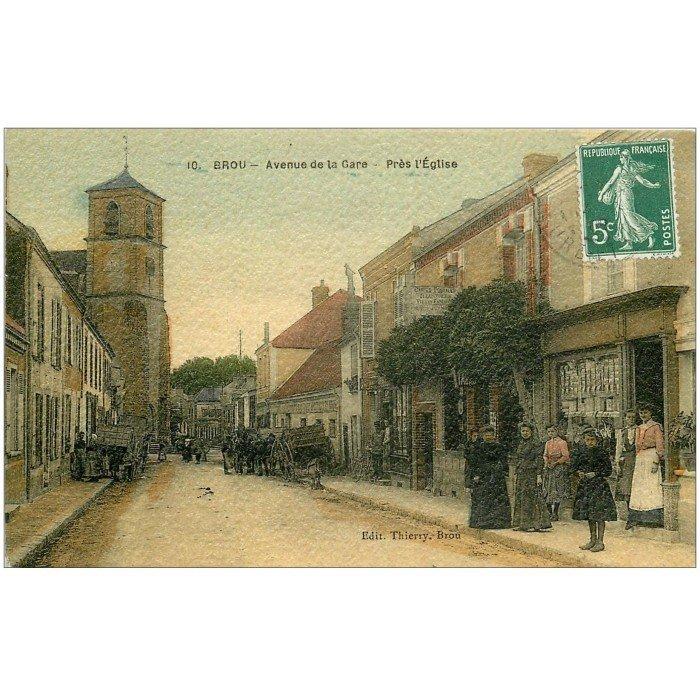 28 brou magasin de cartes postales avenue de la gare superbe carte de luxe 1910 - Magasin avenue de la gare luxembourg ...