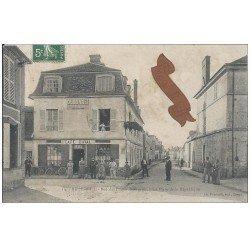 """28 BU. Café Duval Rue des Francs-Bourgeois Place de la République 1908. Rare véritable ajout """""""" Meilleurs Voeux """""""""""