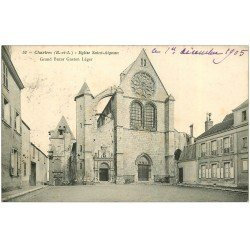 carte postale ancienne 28 CHARTRES. Eglise Saint-Aignan 1905