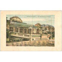 carte postale ancienne 03 VICHY. Casino. Véranda et Théâtre. Carte publicitaire Eau minérale