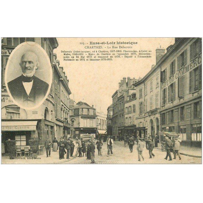 28 chartres la rue delacroix caf du commerce et bar - Frais de port gratuit rue du commerce ...