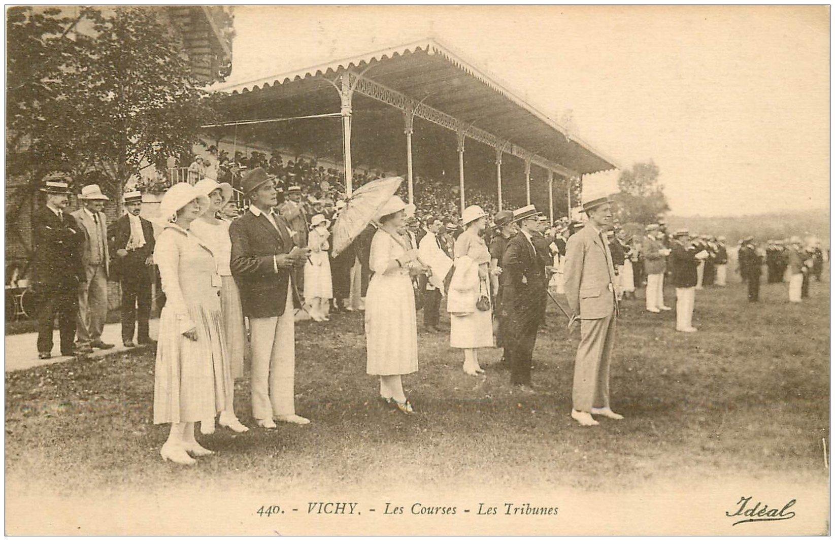 carte postale ancienne 03 VICHY. Champ de Courses. Les Tribunes