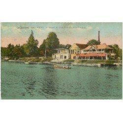 carte postale ancienne 03 VICHY. Club Nautique et Aviron 1947. Bords dentelés