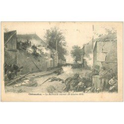 carte postale ancienne 28 CHATEAUDUN. Barricade Tournée 1903