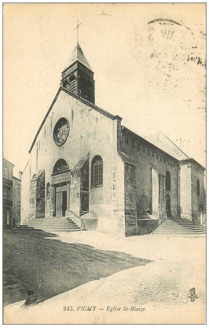 carte postale ancienne 03 VICHY. Eglise Saint-Blaize 1924