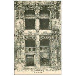 carte postale ancienne 28 CHATEAUDUN. Château Escalier d'honneur