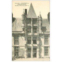 carte postale ancienne 28 CHATEAUDUN. Château Escalier d'honneur P-G 28