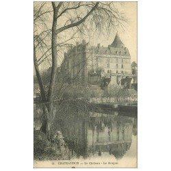 carte postale ancienne 28 CHATEAUDUN. Château et Donjon 1918