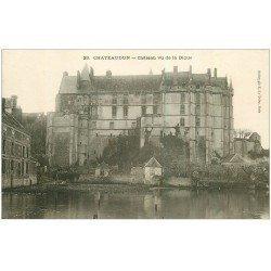 carte postale ancienne 28 CHATEAUDUN. Château vu de la Digue