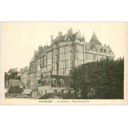 carte postale ancienne 28 CHATEAUDUN. Château vue d'ensemble
