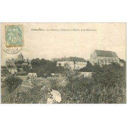 carte postale ancienne 28 CHATEAUDUN. Château, Hôpital et Eglise 1906