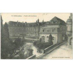 carte postale ancienne 28 CHATEAUDUN. Hôpital civil et Militaire 1916