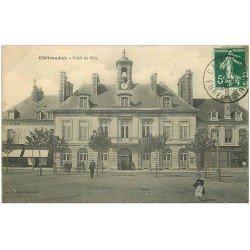 carte postale ancienne 28 CHATEAUDUN. Hôtel de Ville 1909