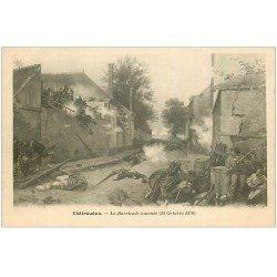 carte postale ancienne 28 CHATEAUDUN. La Barricade tourné vers 1900
