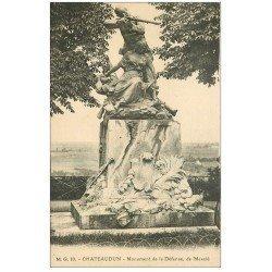 carte postale ancienne 28 CHATEAUDUN. Monument de la Défense
