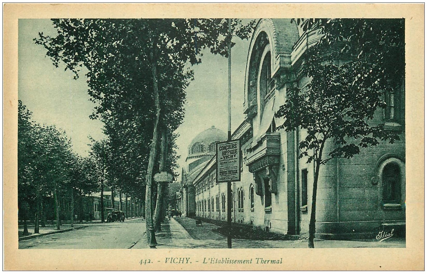 carte postale ancienne 03 VICHY. Etablissement Thermal n° 442