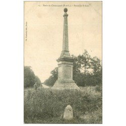 carte postale ancienne 28 CHATEAUNEUF. Pyramide Saint-Jean dans la Forêt