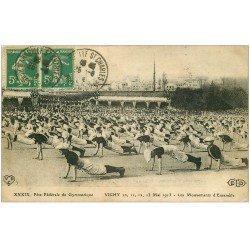 carte postale ancienne 03 VICHY. Fête Fédérale Gymnastique 1916. Mouvements d'Ensemble