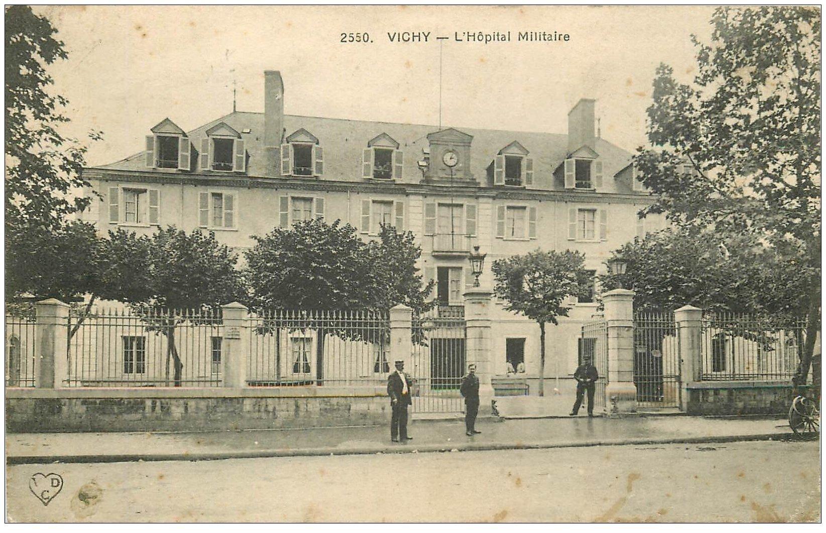 carte postale ancienne 03 VICHY. Hôpital Militaire 1914