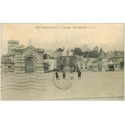 carte postale ancienne 28 DREUX. Arsenal Place Mézirard 1935