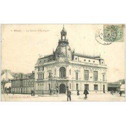 carte postale ancienne 28 DREUX. Caisse d'Epargne 1906. Pli à gauche