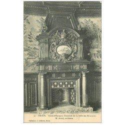 carte postale ancienne 28 DREUX. Caisse d'Epargne Cheminée Salle des Directeurs