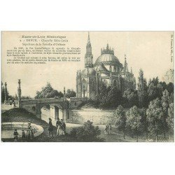 carte postale ancienne 28 DREUX. Chapelle Saint-Louis Tampon Militaire 1915